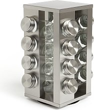 Argos Home 16 Jar Stainless Steel Revolving Spice