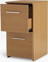 Argos Home 2 Drawer Filing Cabinet - Oak Effect