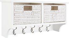 Argos Home 2 Drawer Shelf with Hooks - White