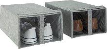 Argos Home 2 Pack Shoe Storage Boxes - Grey