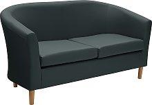 Argos Home 2 Seater Faux Leather Tub Sofa - Black