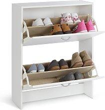Argos Home 2 Tier Shoe Cabinet - White