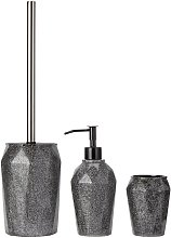 Argos Home 3 Piece Bathroom Accessory Set - Black