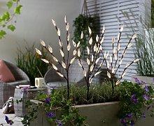 Argos Home 3 Piece Warm White LED Solar Tree Light