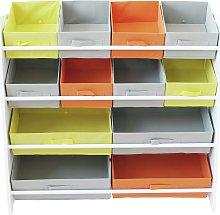 Argos Home 4 Tier Kids Basket Storage Unit - White