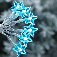 Argos Home 40 Bright White Star LED String Lights