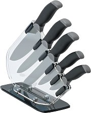 Argos Home 5 Piece Sloping Knife Block Set - Black