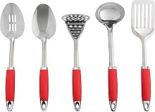 Argos Home 5 Piece Stainless Steel Utensils and