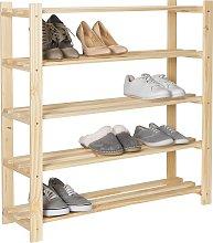 Argos Home 5 Shelf Shoe Storage Rack - Solid