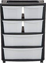Argos Home 6 Drawer Plastic Wide Tower Storage