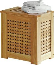 Argos Home 67 Litre Wooden Laundry Bin - Natural