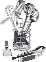Argos Home 9 Piece Stainless Steel Kitchen Utensil