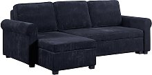 Argos Home Addie Reversible Corner Velvet Sofa Bed