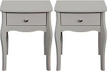 Argos Home Amelie 2 Bedside Tables - Grey
