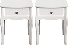 Argos Home Amelie 2 Bedside Tables - White