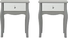 Argos Home Amelie 2 Mirrored Bedside Tables Set -
