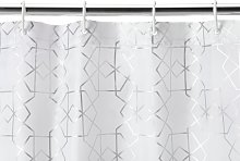 Argos Home Art Deco Geometric Shower Curtain -