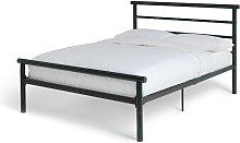Argos Home Avalon Double Metal Bed Frame - Black