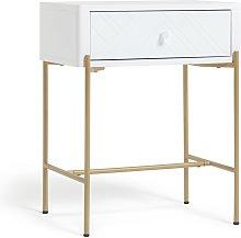 Argos Home Barcelona 1 Drawer Bedside Table - White