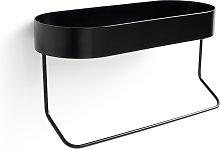 Argos Home Bathroom Shelf with Towel Rail - Matt Black