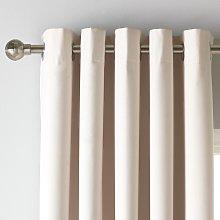Argos Home Blackout Eyelet Curtain - Cream