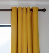 Argos Home Blackout Eyelet Curtain - Mustard