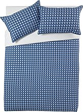 Argos Home Blue Geo Bedding Set - Double