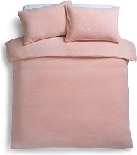 Argos Home Blush Fleece Bedding Set - Double