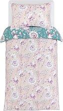 Argos Home Blush Floral Bedding Set - Single