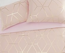 Argos Home Blush Jacquard Geo Bedding Set - Double