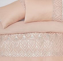 Argos Home Blush Sequin Bedding Set - Single