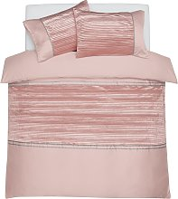 Argos Home Blush Sparkle Velvet Bedding Set -