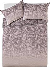 Argos Home Blush Zebra Ombre Bedding Set - Kingsize