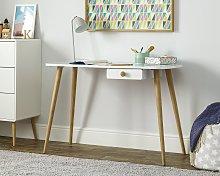 Argos Home Bodie 1 Drawer Desk - White