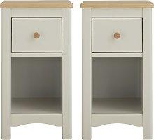 Argos Home Bournemouth 2 Bedside Tables Set -