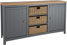 Argos Home Bournemouth 2 Door Wicker Sideboard -