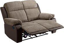 Argos Home Bradley 2 Seater Fabric Recliner Sofa -