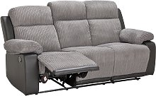 Argos Home Bradley 3 Seater Fabric Recliner Sofa -