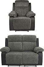 Argos Home Bradley Chair & 2 Seater Recliner Sofa