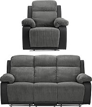 Argos Home Bradley Chair & 3 Seater Recliner Sofa