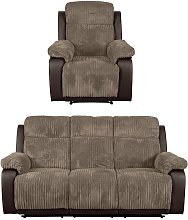 Argos Home Bradley Chair & 3 Seater Recliner Sofa