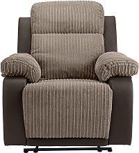 Argos Home Bradley Fabric Manual Recliner Chair -