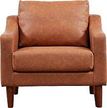 Argos Home Brixton Faux Leather Armchair - Tan
