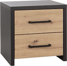 Argos Home Broadway 2 Drawer Bedside Table - Grey