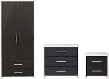 Argos Home Broadway Gloss 3 Piece Wardrobe Set