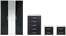 Argos Home Broadway Gloss 4 Piece Wardrobe Set