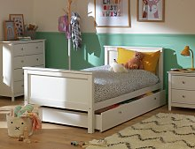 Argos Home Brooklyn Bed Frame with Drawer - White