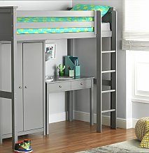 Argos Home Brooklyn High Sleeper Package - Grey