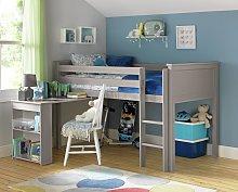 Argos Home Brooklyn Mid Sleeper with Desk - Grey