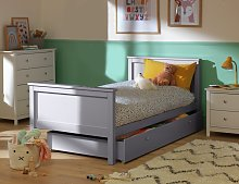 Argos Home Brooklyn Single Bed with Drawer - Grey